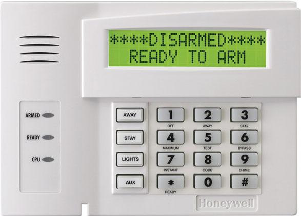 residential alarm keypad
