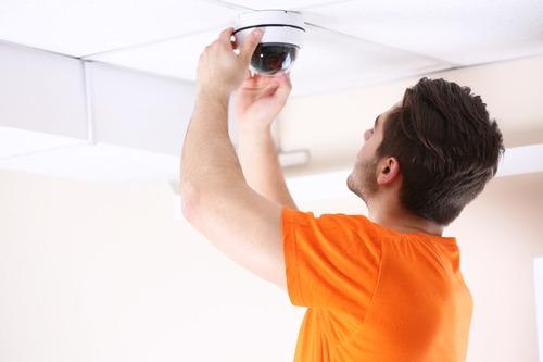 CCTV installing alarm system
