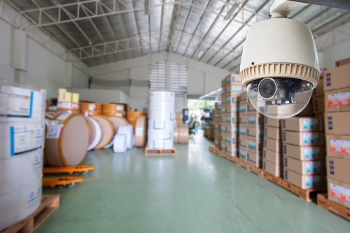 CCTV Camera warehouse or factory